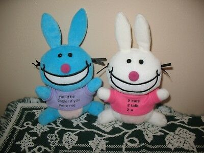 Its Happy Bunny Jim Benton Plush You'd Be Cooler If U Were Me 2 Cute 2 Talk 2 U