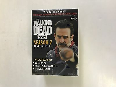 Topps Walking Dead Season 7 Factory Sealed Blaster Box 1 Relic Auto or Sketch