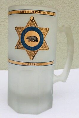 Los Angeles Sheriff Department Frosted Lasd Police  Glass Mug Cup Stein
