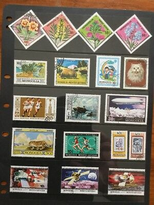 58 Stamps From Mongolia