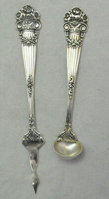 Towle Georgian Rare Sterling Silver Butter Pick & Mustard / Mayo Spoon