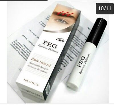 FEG Eyebrow Enhancer Rapid Growth Serum 100% Natural USA Super Fast Shipping!