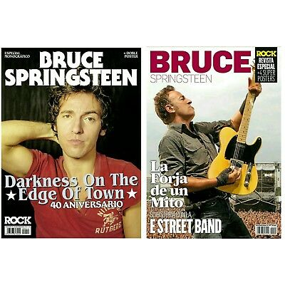 BRUCE SPRINGSTEEN - 2 Special Magazines - Spanish + Posters - Edge of Town