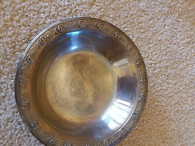 Vintage Reed & Barton Silver Candy Dish/ Bowl/Classic Rose Design