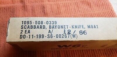 2 ORIGINAL New In Orignal Box US M8A1 BAYONET SCABBARDS
