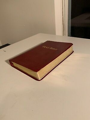 Genuine Leather Holy Bible KJV King James Reference Bible