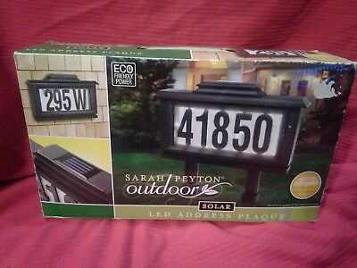 Solar Sign Lighted House Address Plaque Outdoor Led Light