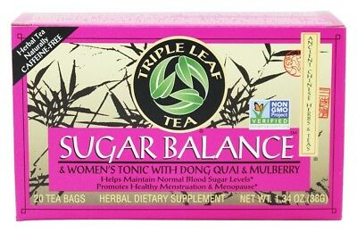 Triple Leaf Tea - Sugar Balance & Women's Tonic with Dong, Quai, and Mulberry -