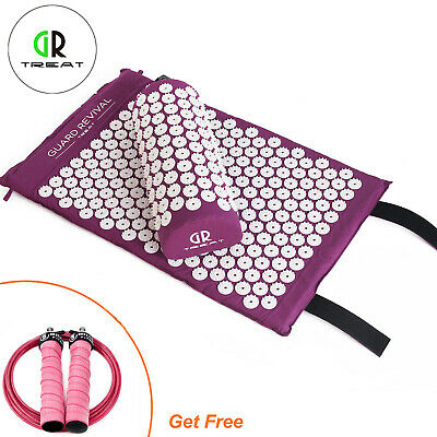 Acupressure Massage Mat with Pillow &Jump Rope For Stress/Tension Relief Body