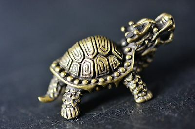 Collection Chinese Brass copper *dragon turtle* Lucky pendant  G44