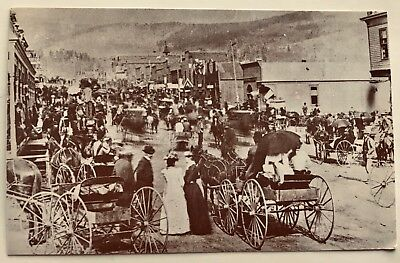 COLORADO Reproduction of Photo in Cripple Creek~Bennett Ave. at First St.~1893
