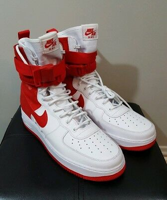 NIKE SF-AF1 High Air Force 1University Red/Wht Special Forces AR1955-100 Size 13