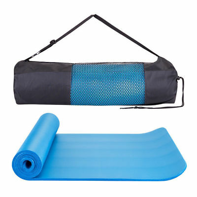 Yoga Pilates Mat Mattress Thick Durable Gym Fitness Exercise Workout Carrier Pad