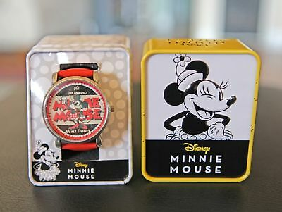 Disney 1928 Minnie Mouse 90th Anniversary Commemorative Wrist Watch - (NEW)