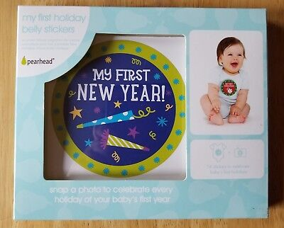 Baby's First Holidays Belly Stickers, 6 Stickers, Pearhead brand, New/Unused