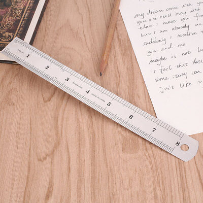 4B05 20cm 8 inch Stainless Steel Straight Ruler Precision Scale Double Sided Com