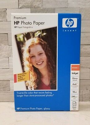"""HP Premium Photo Paper-200 Sheets-Glossy 4/""""x6/"""" NEW IN BOX//SEALED Q8743A"""