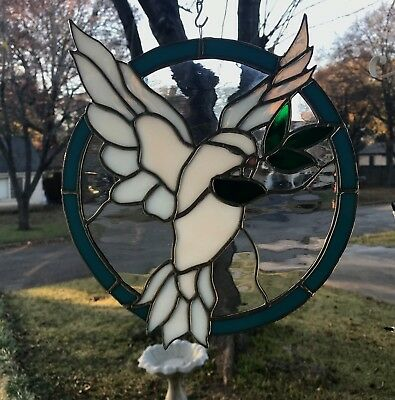 Stained Glass Window Suncatcher Dove of Peace