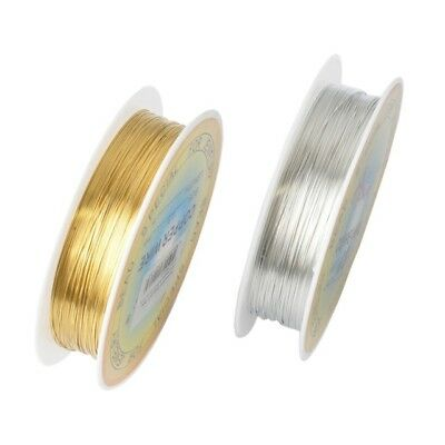 Gold Silver Plated Bare Copper Wire Cord String Beading Jewelry Making 0.2-1mm