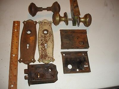 Vintage Metal Door Lock Knobs And Plates No Key