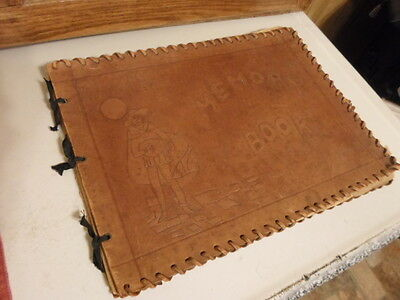 Vintage Leather Hand Tooled Scrapbook