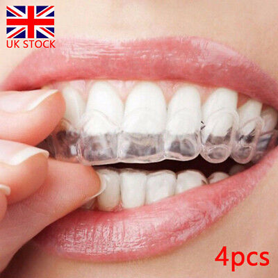 4pcs Teeth Whitening Mouth Trays Guard Thermo Gum Shield Tooth Grinding UK
