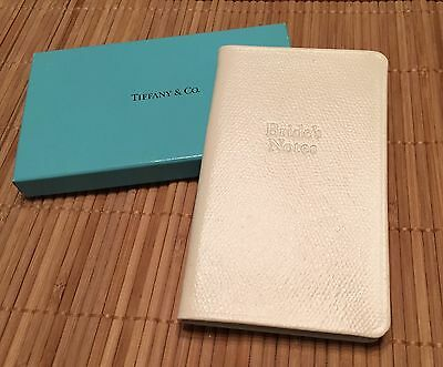 c8587a8954 TIFFANY & Co. Bride's Leather Notes Wedding Journal Book! Great Engagement  Gift!