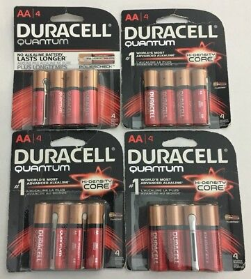 Lot Of 4 Duracell AA Batteries 4 Pack Each Exp 2023, 2025
