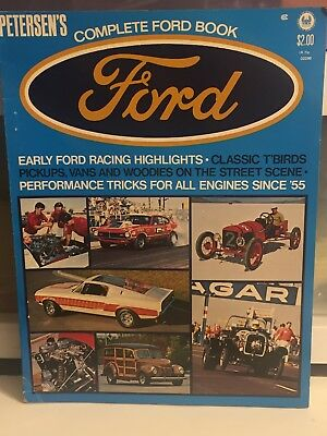11972 PETERSEN's COMPLETE FORD BOOK MAGAZINE * RACING HIGHLIGHTS HISTORY TBIRDS