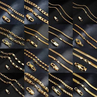 "1PC 4~9mm 20"" 18K Gold Plated Copper Chain DIY Jewelery Making Necklace Bracelet"