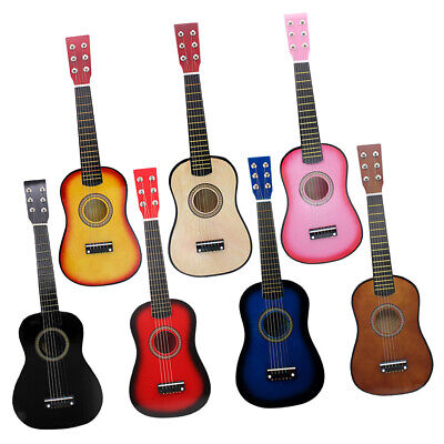 Exquisite Wooden 21inch Mini Acoustic Folk Guitar with String Pick Set