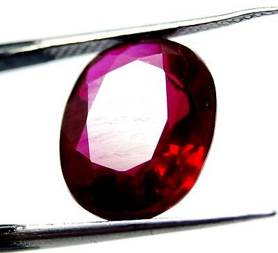 GGL Certified Natural 10.10 Ct Oval Cut Red Ruby Mozambique Gem New Year Offer