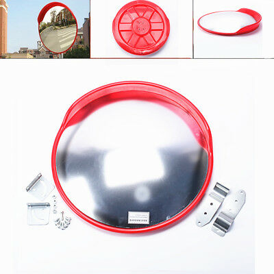 "New 24"" Outdoor Road Traffic Convex Mirror Wide Angle Driveway Safety & Security"