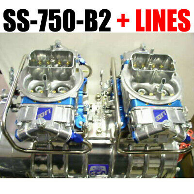 Quick Fuel SS 750 B2 750 Cfm Soffiatore Supercharger Blu Carbs W Carburante