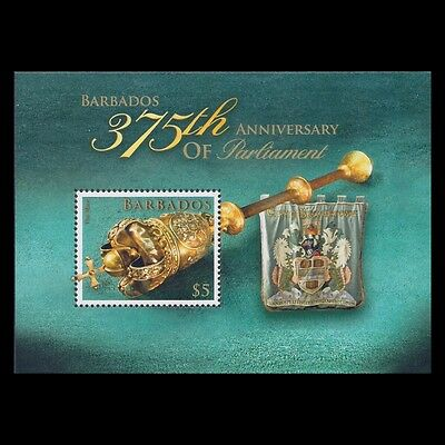 Barbados 2014 - 375th Anniv of Parlament Coat of Arms s/s - MNH