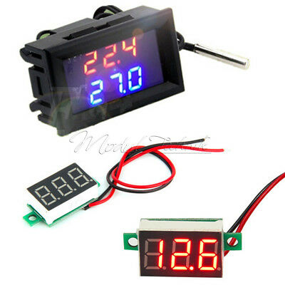 DC 12V W1209WK LED Thermostat Temperature Controller+Red LED Voltage Meter