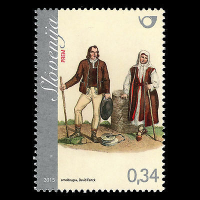 """Slovenia 2015 - Traditional Dress """"National Costumer from Prem"""" Culture - MNH"""