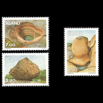 Aland 1995 - Stone Formations Nature - Sc 96,102,105 MNH
