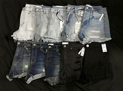 NWT TILLY'S Womens Vintage High Rise Denim Shorts in Various Styles, Sz 7 & 9