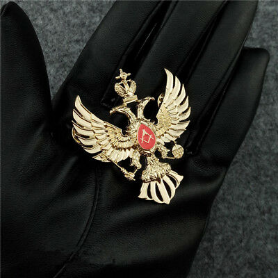 Russian masonic double head eagle badge, plating gold Freemason badges
