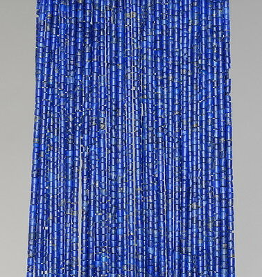 1Mm Lapis Lazuli Gemstone Blue Round Tube Heishi Loose Beads 14""