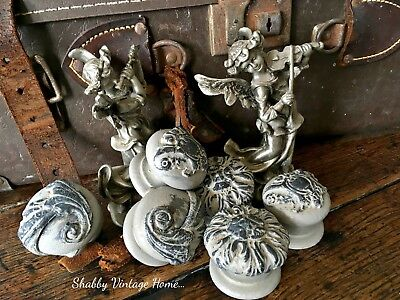 French Country Door Knobs Painted Drawer Pulls Antique Style Handles