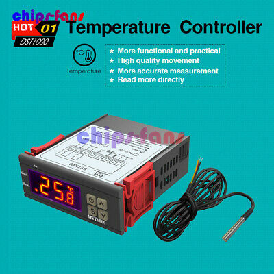 DST1000 Temperature Controller DC 12-72V Thermostat DS18B20 Cable Better STC1000