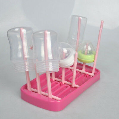 Antibacterial Baby Bottle Drying Rack Foldable Pacifier Stand Triplex Row Rods