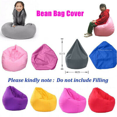 Unfilled Lounge Bean Bag Cover Soft Lazy Sofa Cozy Single Chair DurableFurniture