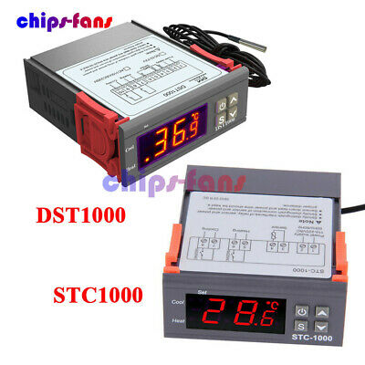 DST1000 STC1000 DC 12-72V AC 110-220V Temperature Controller Thermostat DS18B20