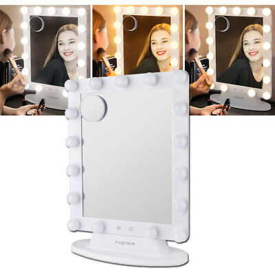 VIUGREUM Makeup Vanity Mirror with 17x LED Dimmer Table Lights Hollywood Style
