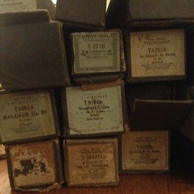 PIANOLA ROLLS 17   FULL SCALE  88  mixed music LATE 19TH CENTURY up to 1920s