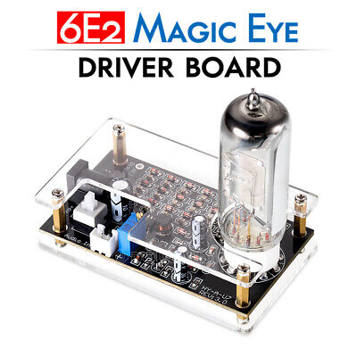 Magic Eye 6E2 EM87 Preamp Tube Audio Level Indicator VU Meter Driver Board +Case