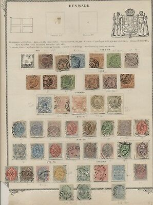 Early DENMARK & DANISH WEST INDIES on album pages, used, Scott